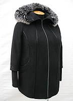 Пальто женское зимнее большого размера П 18 черное