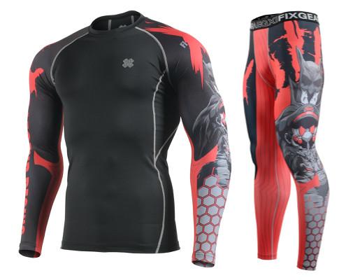 Комплект Рашгард Fixgear и компрессионные штаны CPD-BH4+FPL-H4