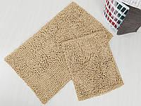 Набор ковриков для ванной Irya - Drop бежевый - 60*100+45*60