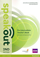 Книга учителя Speakout 2nd Pre-Intermediate  Teacher's Book+CD-ROM