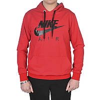 Мужская фирменная кофта-кенгурушка Nike - Air (красная)