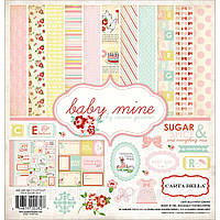 Набор бумаги Carta Bella, Baby Mine —  SUGAR & SPICE BABY GIRL, 30х30 см