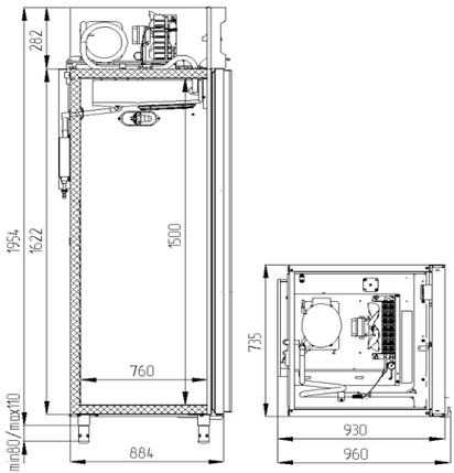 Шкаф морозильный Polair CВ107-G, фото 2