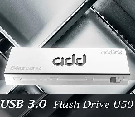 Флешка 64 гб/GB USB 3.0 ( 5 GB/sec ) AddLink U50 цельнометаличесая