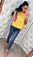 Классические женские джинсы синие