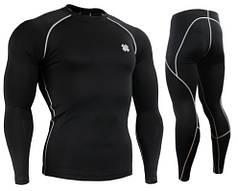 Компрессионная одежда Fixgear комплект рашгард и компрессионные штаны CPL-BS+P2L-BS оригинал