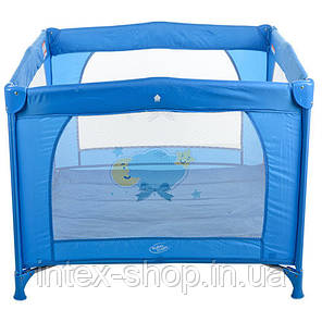 Двухуровневый детский манеж Bambi G400-4 (синий), фото 2