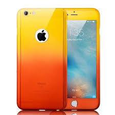 Чехол на 360 градусов Градиент для iPhone 5/5s/SE Желто-Оранжевый