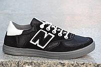 Кроссовки, кеды, мокасины мужские удобные типа New Balance черные