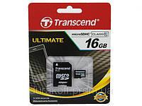 Карта памяти Transcend microSD 16GB class 10 с SD