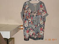 Блузон цветной шелк батал, фото 1