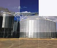 Силос металичекий для хранения зерна с плоским основанием