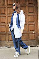 Удлиненная свободная рубаха пляжный и городской стиль, натуральный лен, разные размеры и цвета, фото 1