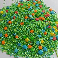 Посыпка сахарная кондитерская Трава и цветы