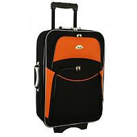 Чемодан сумка 773 (средний) черно-оранжевый