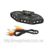 3х канальный RCA свич селектор AV переключатель