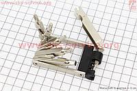 Ключ-набор 11предметов (шестигранники 2,2.5,3,4,5,6мм, отвёртки прямая и фигурная, Т25 ключ-звездочка, спицные ключи 14,15G, выжимка цепи), KL-9835A