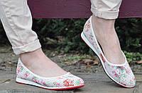 Балетки, туфли женские легкие и удобные с цветочным принтом