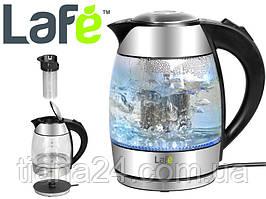 Электрочайник KETTLE LED 1,8 л Lafe+ фильтр для чая