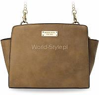 11-30 Светло-коричневый маленький сундучок на цепочке сумки типа трапеции Galsan
