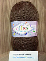 Детская пряжа(100%-акрил,100г/320м) Alize Sekerim bebe 534(светло-коричневый)