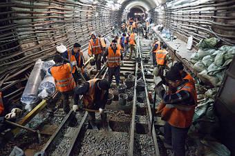 Будівництво ліній метро.