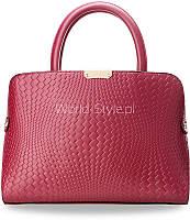 06-03 Розовая шикарная сумочка сундучок с тиснением Vireneja
