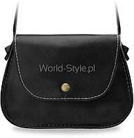 11-15 Черная малая женская сумка почтальонша  Dorin