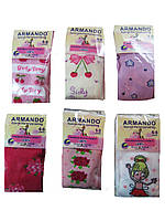 """Колготы для девочек """"Armando"""" c рисунком, хлопок 100%, размеры 1/3-10/12 лет, арт. 863, фото 1"""