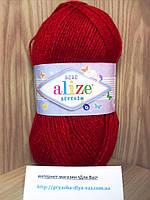 Детская пряжа(100%-акрил,100г/320м) Alize Sekerim bebe 106(тёмно-красный)