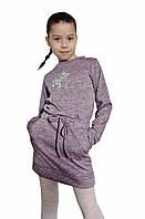Детская модная туника -платье трикотаж