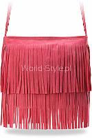 06-03 Розовая милая женская сумка почтальонша в стиле бохо хиппи Tea