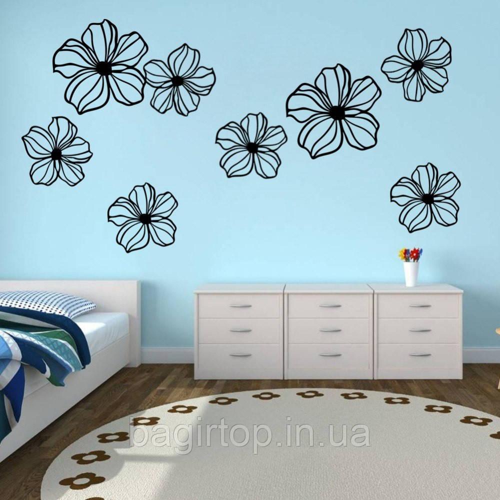 Виниловая интерьерная наклейка - Цветы