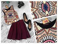Женский юбочный костюм,кроп топ+пышная юбка,разные цвета.