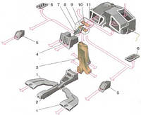 Корпус печки (отопителя) ВАЗ-2110, 2111, 2112  старого образца завод