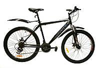 Велосипед горный Fort Master 26 Diskрама 19 черно-бело-синий
