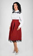 Стильная женская юбка с высококачественным кружевом