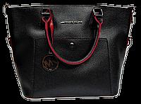 Симпатичная женская сумочка Michael Kors (копия) черного цвета трапецией LNN-771001