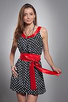 Платье женское мод №413, размеры 42-46 корал. отделка