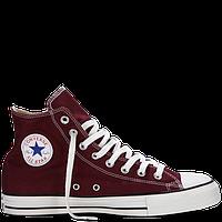 Кеды женские Converse (Высокие бордовые) VO-138 VO-139
