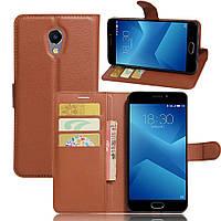 Чехол Meizu M5 Note книжка PU-Кожа коричневый