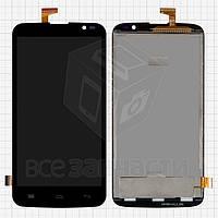 Дисплей для мобильного телефона Gigabyte GSmart Roma RX, черный, с сенсорным экраном, #CAV4021-A FPC-QTB5D0388-A0-A