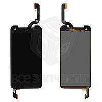 Дисплей для мобильного телефона HTC X920e Butterfly, черный, с сенсорным экраном