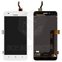 Дисплей для мобильного телефона Huawei Y3 II, белый, с сенсорным экраном, (версия 3G), логотип Huawei, original (PRC), LUA-U03/U23/L03/L13/L23
