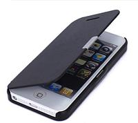 Черный чехол-книжка на магнитной застежке для Iphone 5/5S, фото 1