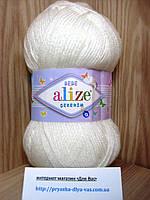 Детская пряжа(100%-акрил,100г/320м) Alize Sekerim  bebe 55 (белый)