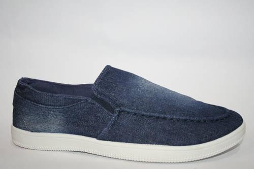 Стильные джинсовые мокасины