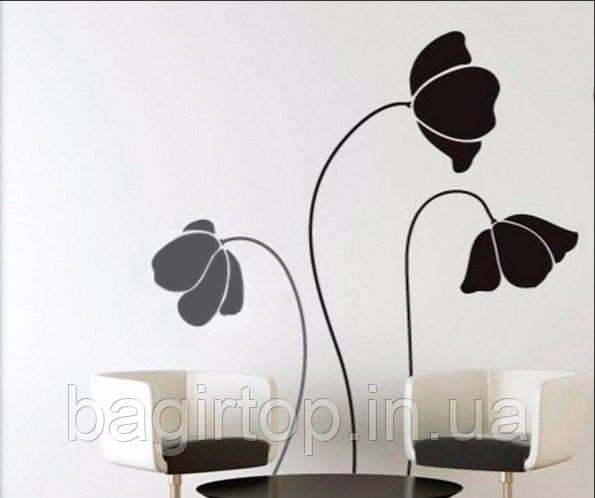 Виниловая наклейка-интерьерная (цветы)