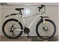 Велосипед горный Fort Master 26 Diskрама 19  бело-серо-синий