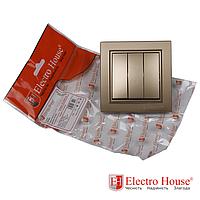 Выключатель тройной золото Enzo EH-2185-LG